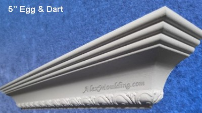 5 inch Egg & Dart crown moulding