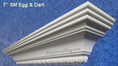 7 inch Egg & Dart crown  molding