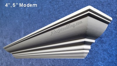 5 inch Modern Profile crown moulding