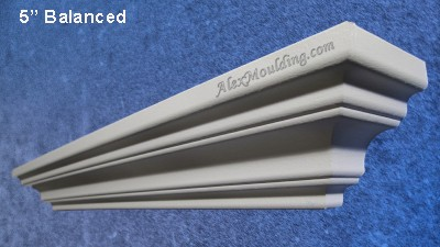 5 inch Smooth Symmetrical  molding