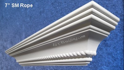 7 inch Rope crown  molding