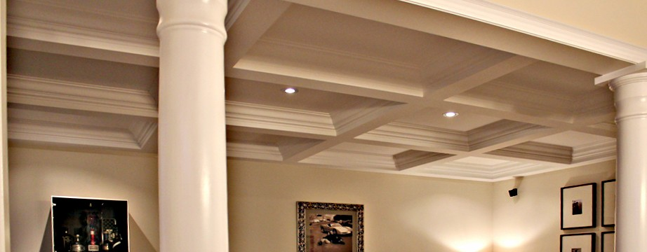 Crown molding with cathedral ceiling joy studio design for Coffered cathedral ceiling